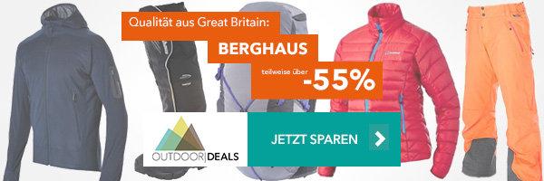 Bekleidung & Co von Berghaus - teilweise über 55% reduziert