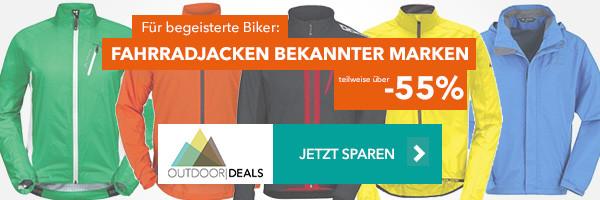 Fahrradjacken bekannter Marken - teilweise über 55% reduziert