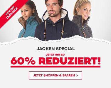 Jacken-Special bei planet-sports - Rabatte bis zu 60%