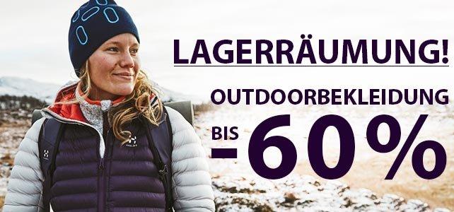 Lagerräumung bei sportokay.com - Outdoorbekleidung bis zu 60% reduziert