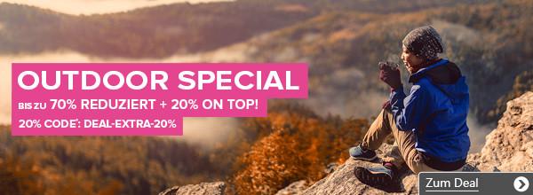 Outdoor-Special bei vaola.de - bis zu 70% Rabatt + 20% on top