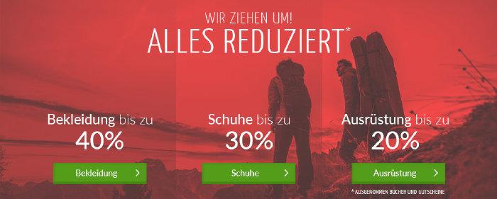 Rabatte auf das komplette Sortiment von bergzeit.de