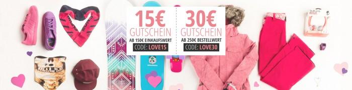 Valentinstags-Gutscheine bei blue-tomato.com