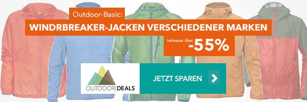 Windbreaker Jackets verschiedener Marken - teilweise über 55% reduziert