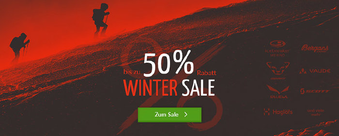 Winter Sale bei bergzeit.de - bis zu 50% Rabatt reduziert