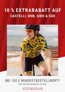 10% Extra-Rabatt auf Bikebekleidung und -zubehör bei wigglesport.de