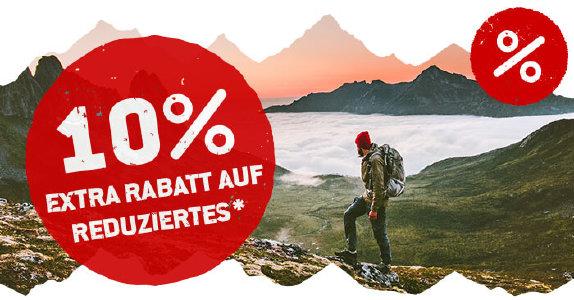 10% Extra-Rabatt auf bereits reduzierte Ware bei bergfreunde.de