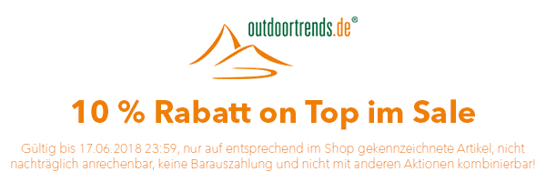 10% Extra-Rabatt im Sale bei Outdoortrends