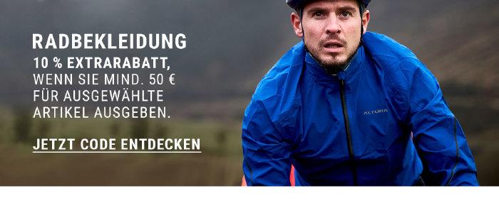 10% Extrarabatt auf ausgewählte Radbekleidung bei wigglesport.de