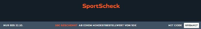 10€ Gutschein ab 50€ Warenwert bei sportscheck.com