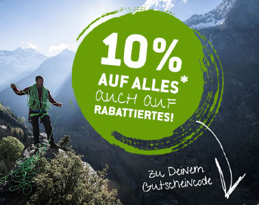10% Rabatt auf alles bei bergfreunde.de