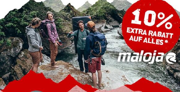 10% extra Rabatt auf alles von Maloja bei den Bergfreunden