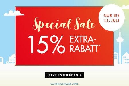15% Extra Rabatt im Sale bei Engelhorn