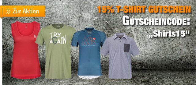 15% Gutschein auf alle T-Shirts im Sale bei OutdoorBroker
