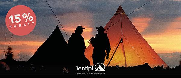15% Rabatt auf Zelte von Tentipi bei globetrotter.de