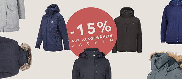 Nur noch heute: 15% Rabatt auf ausgewählte Jacken bei globetrotter.de