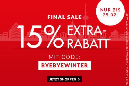 15% extra Rabatt bei engelhorn.de