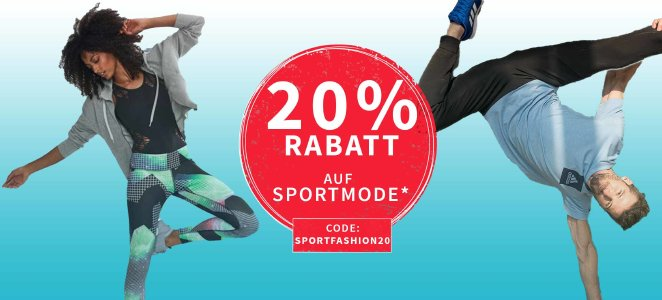20 % Rabatt auf Sportbekleidung und Schuhe bei plentyone.de