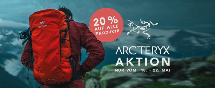 20% Rabatt auf Arcteryx bei globetrotter.de