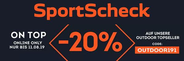 20% extra Rabatt auf Outdoor Topseller bei SportScheck