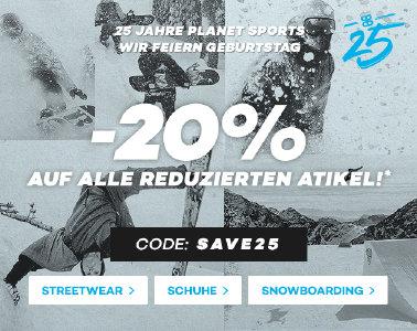 20% extra Rabatt bei planet-sports.com