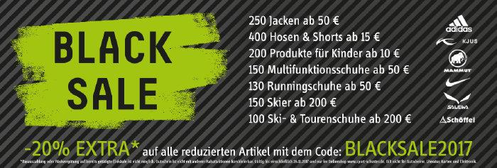 20% extra Rabatt beim Black Sale von sport-schuster.de