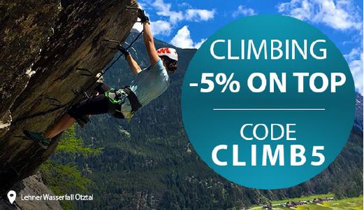 5% Rabatt auf Kletterartikel bei sportokay.com
