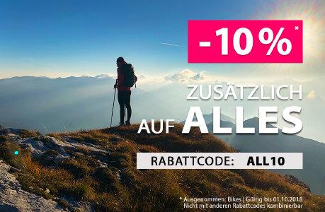Aktion verlängert: 10% Rabatt auf alles bei sportokay.com