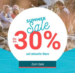 Aktuelle Ware bis zu 30% günstiger im Summer Sale bei bergzeit.de