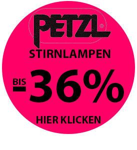 Ausgewählte Stirnlampen von Petzl bis zu 36% reduziert bei sportokay.com