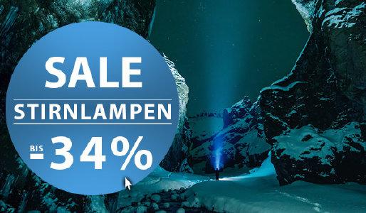 Bis zu 34% Rabatt auf Stirnlampen bei sportokay.com