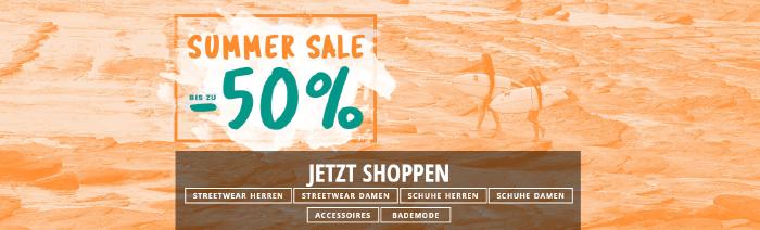 Bis zu 50% Rabatt im Summer Sale bei blue-tomato.com