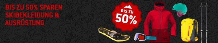 Bis zu 50% Rabatt auf Skibekleidung & Ausrüstung bei bergfreunde.de