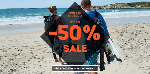 Bis zu 50% sparen im Sommer-Sale von sportscheck.com