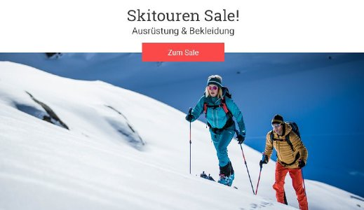 Bis zu 71% Rabatt im Skitourensale von bergzeit.de