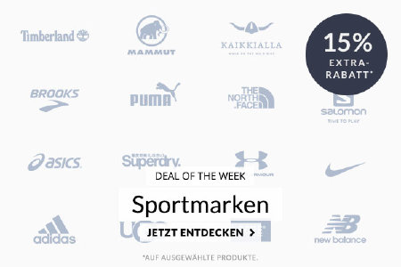 Deal of the Week - 15% Extra-Rabatt auf Sportmarken bei engelhorn.de