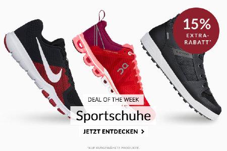 Deal of the Week: 15% Extra-Rabatt auf Sportschuhe bei engelhorn.de