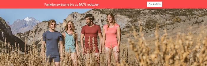 Funktionswäsche bis zu 60% reduziert bei bergzeit.de