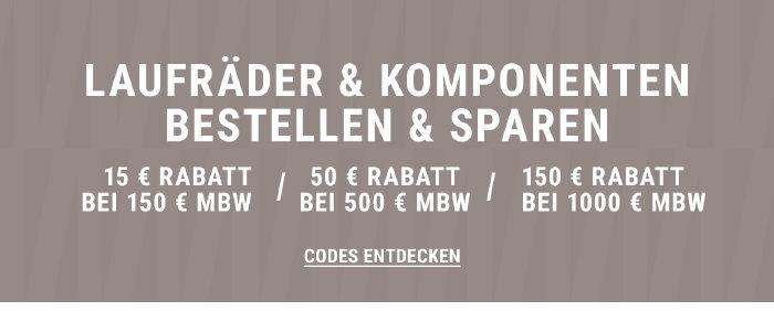 Laufräder kaufen und bis zu 150€ sparen bei wigglesport.de