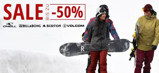 Marken-Sale bei blue-tomato.com - Rabatte bis zu 50%
