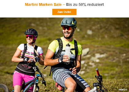 Martini Bike-Bekleidung Sale mit 50 % Rabatt