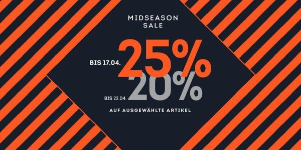 2. Runde im Midseason-Sale bei Sportscheck mit 20% Rabatt