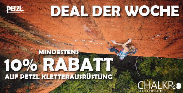 Mindestens 10% Rabatt auf Kletterequipment von Petzl bei chalkr.de