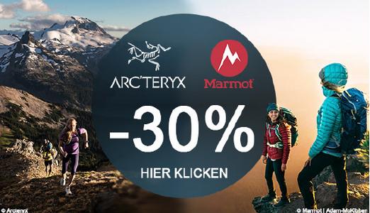 Mindestens 30% Rabatt auf Marmot und Arcteryx bei Sportokay