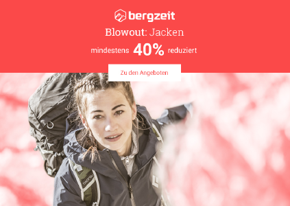Blowout! Mindestens 40% Rabatt auf Jacken bei bergzeit.de