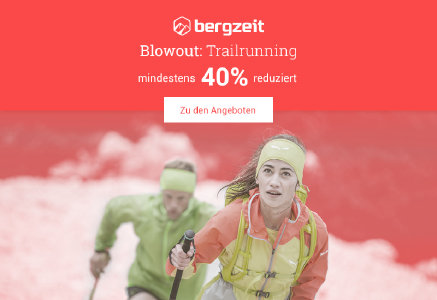 Mindestens 40% Rabatt auf Trailrunning-Produkte bei bergzeit.de