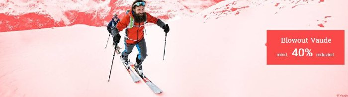 Mindestens 40% im Vaude Blowout von bergzeit.de sparen