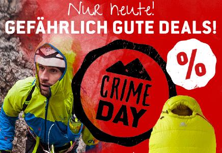 Nur heute! Crime Day mit gefährlich guten Deals bei Bergfreunde