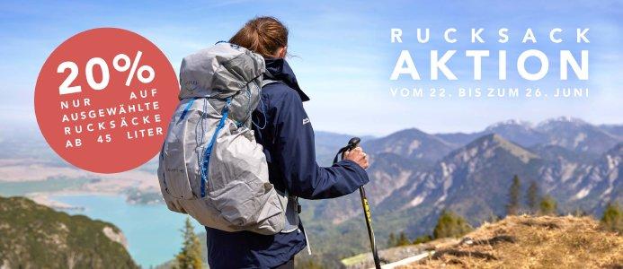 Rucksack-Aktion bei globetrotter.de - 20% Rabatt auf ausgewählte Modelle
