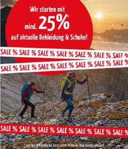 Sale bei doorout.com mit mind. 25% Rabatt auf Bekleidung und Schuhe